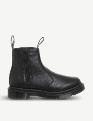DR. MARTENS 2976 zipped leather Chelsea boots