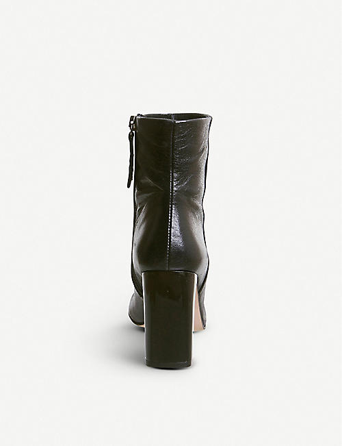 OFFICE All Night leather heeled ankle boots