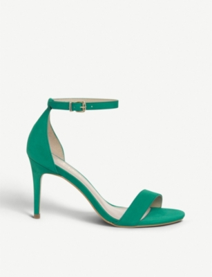 OFFICE Mimosa nubuck-leather heeled sandals