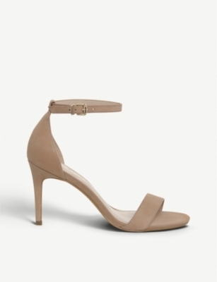 OFFICE Mimosa mid-heel nubuck leather sandals