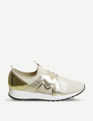 OFFICE Fierce metallic and mesh trainers