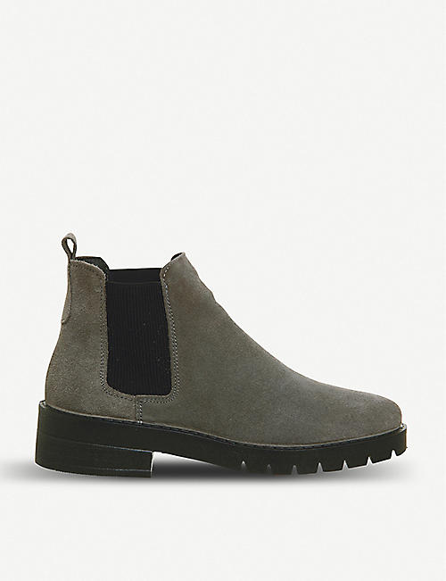1d4e30bac3aa OFFICE Aimee cleat-sole suede Chelsea boots