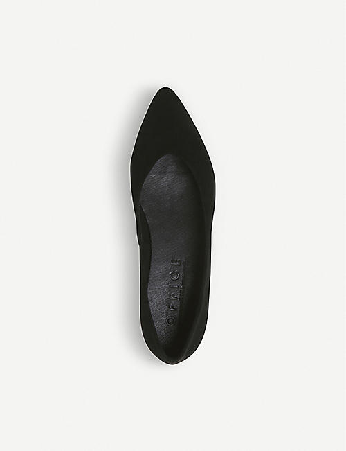 OFFICE Fleur pointed-toe suede flat