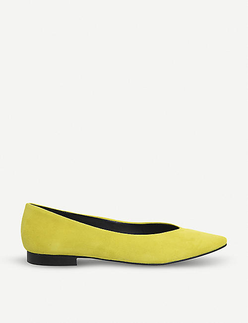 accc504c241a OFFICE Fleur pointed-toe suede flat