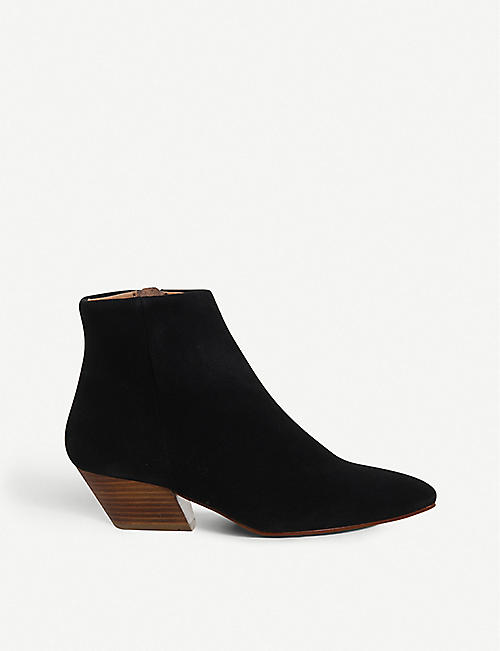 63aa63506ed0 OFFICE Atone western block heel suede boots
