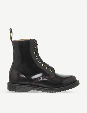 DR. MARTENS Elsham patent-leather ankle boots
