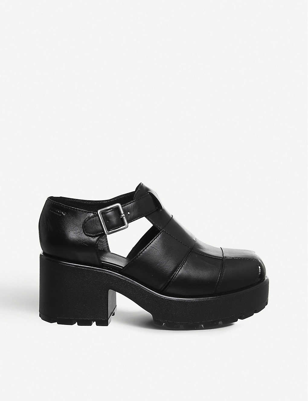 VAGABOND: Dioon leather platform sandals
