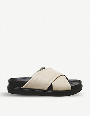 VAGABOND: Erin leather flatform sandals