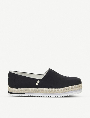 OFFICE Alpargata platform canvas espadrilles