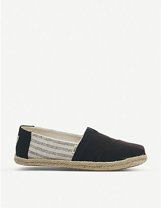 TOMS: Ivy League Alpargata canvas shoes