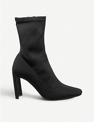 OFFICE: Amore block-heeled sock boots