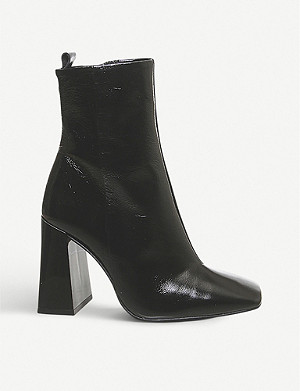 OFFICE All Together block-heeled leather ankle boots