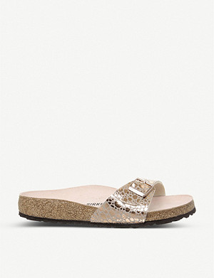 BIRKENSTOCK Madrid 1 Bar metallic faux-leather sandals