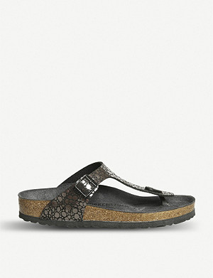 BIRKENSTOCK Gizeh metallic sandals