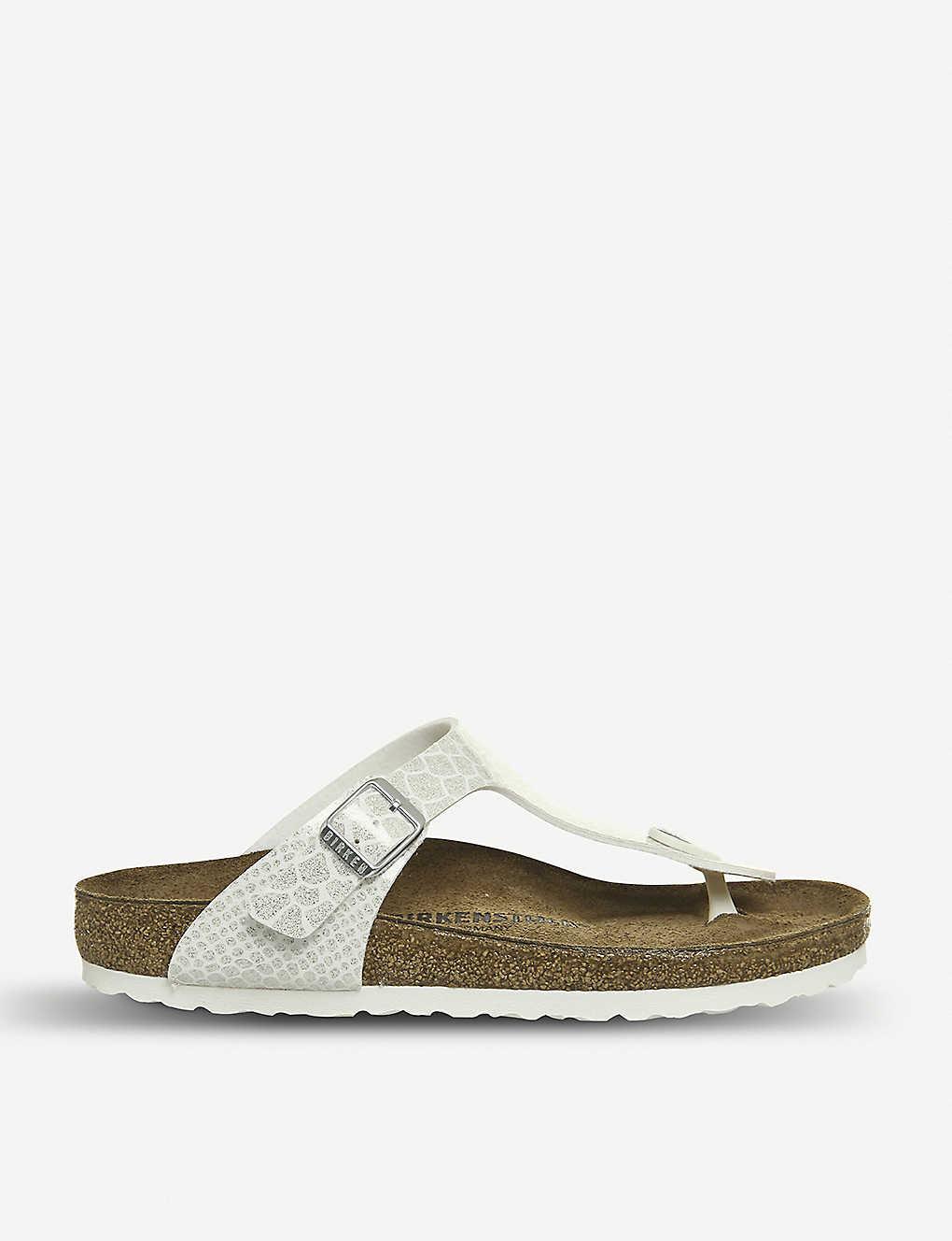 18407767b8e8ae Gizeh birko-flor thong sandals - Magic snake white ...