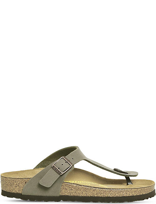 BIRKENSTOCK: Faux-leather thong sandals