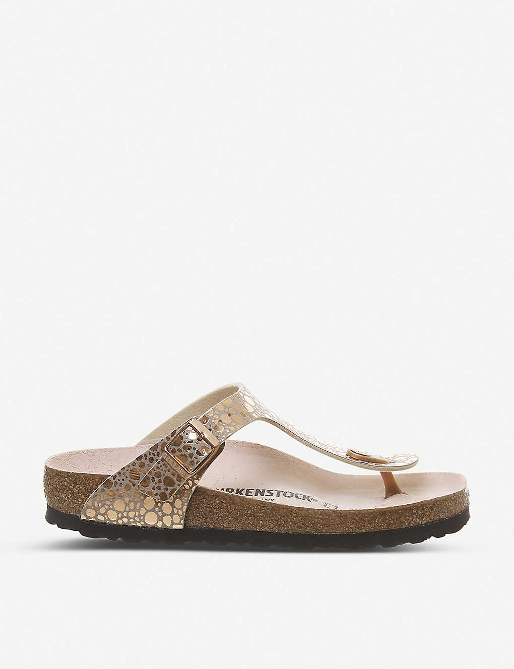 Gizeh metallic faux leather sandals