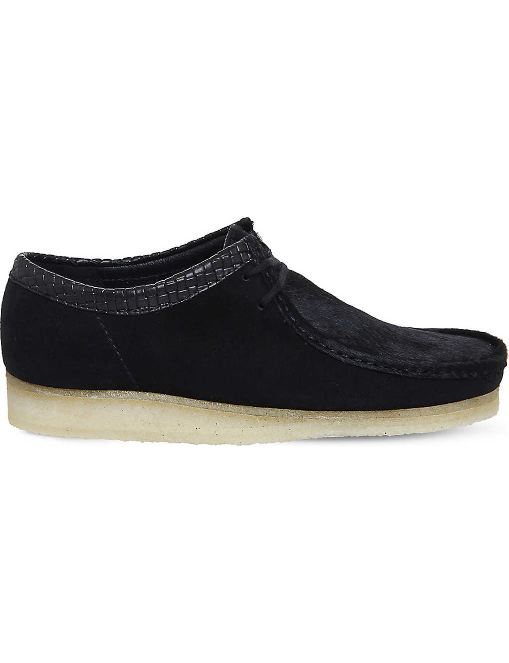 1daf1bfe CLARKS ORIGINALS - Wallabee suede and pony-hair derby shoes ...