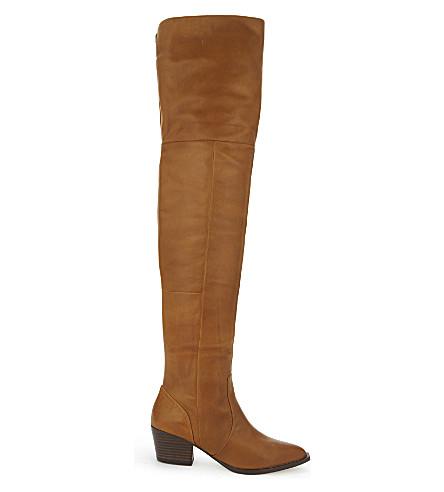 b738590db0d ALDO Deedee over-the-knee leather boots (Cognac