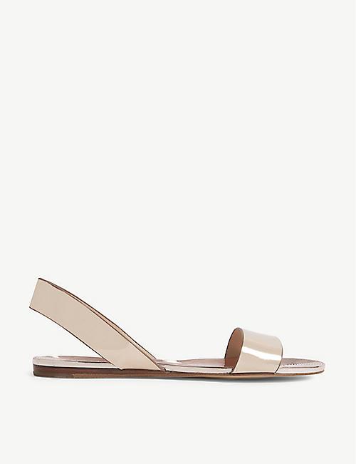 cf96ff45561 ALDO Yoana metallic flat sandals