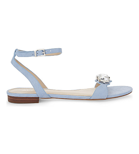 27754ac9257aad ALDO Marybel flat sandals (Light+blue