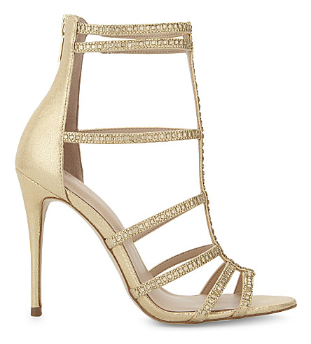 c6a545ab0360 ALDO Mally caged heeled sandals (Gold