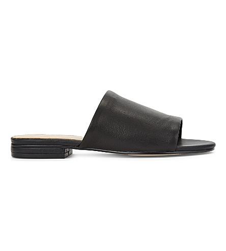 9fbe8fcd2f1 ALDO Yulia flat open toed sandals (Black+leather