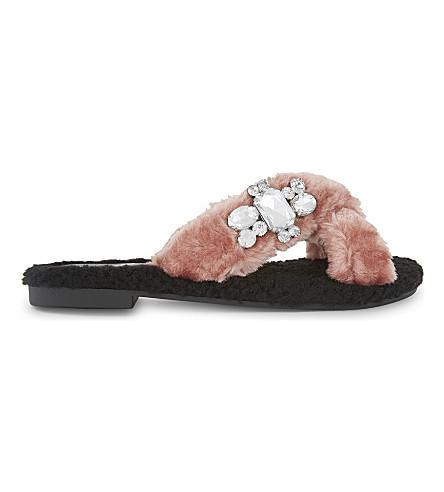 d7d9590395b ALDO - Mukki faux-fur jewel embellished sandals