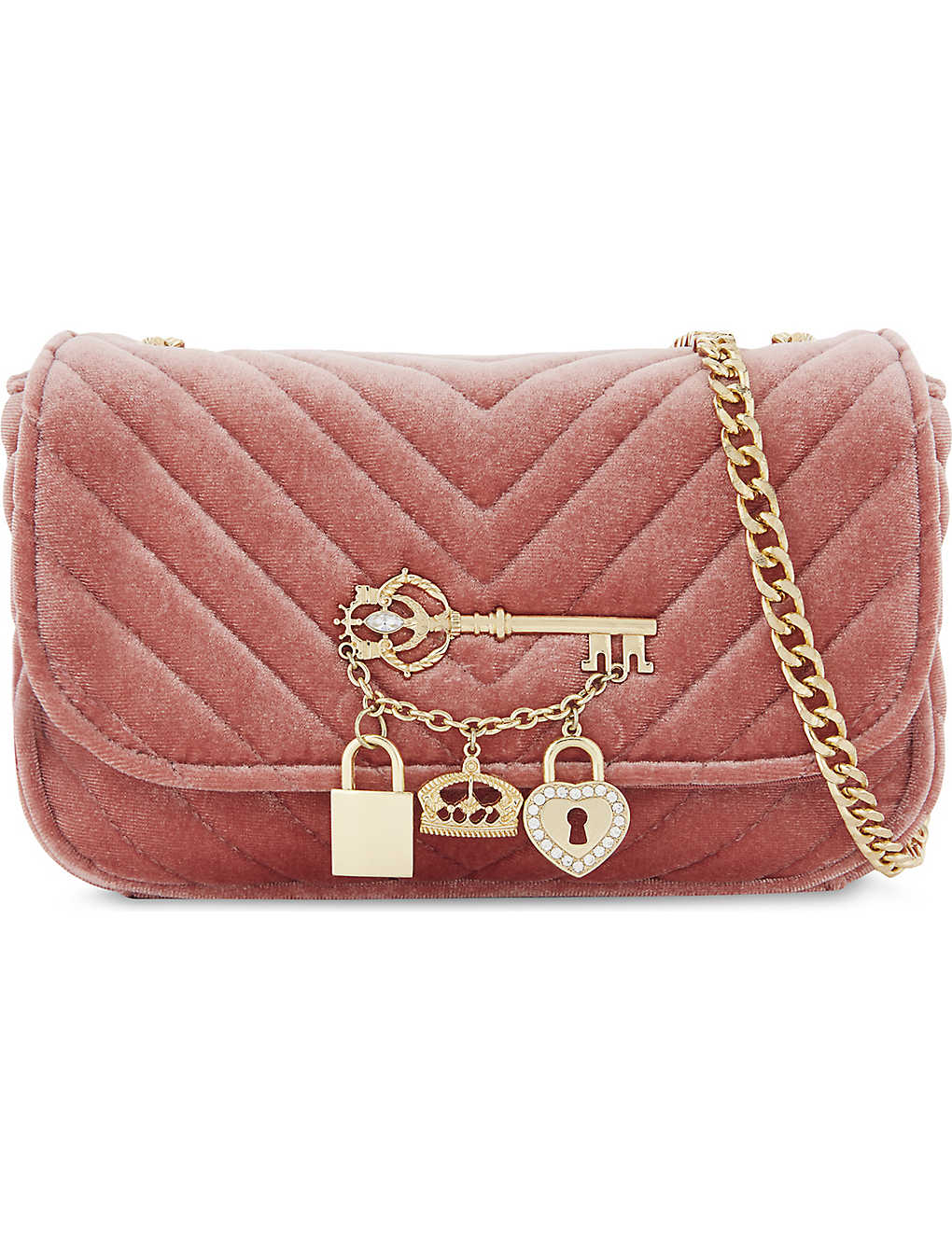 9676f7bbf97 ALDO - Griclya quilted velvet cross-body bag | Selfridges.com