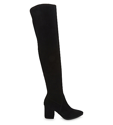 843db5a3a21 ALDO Iboewet suede over-the-knee boots (Black+suede
