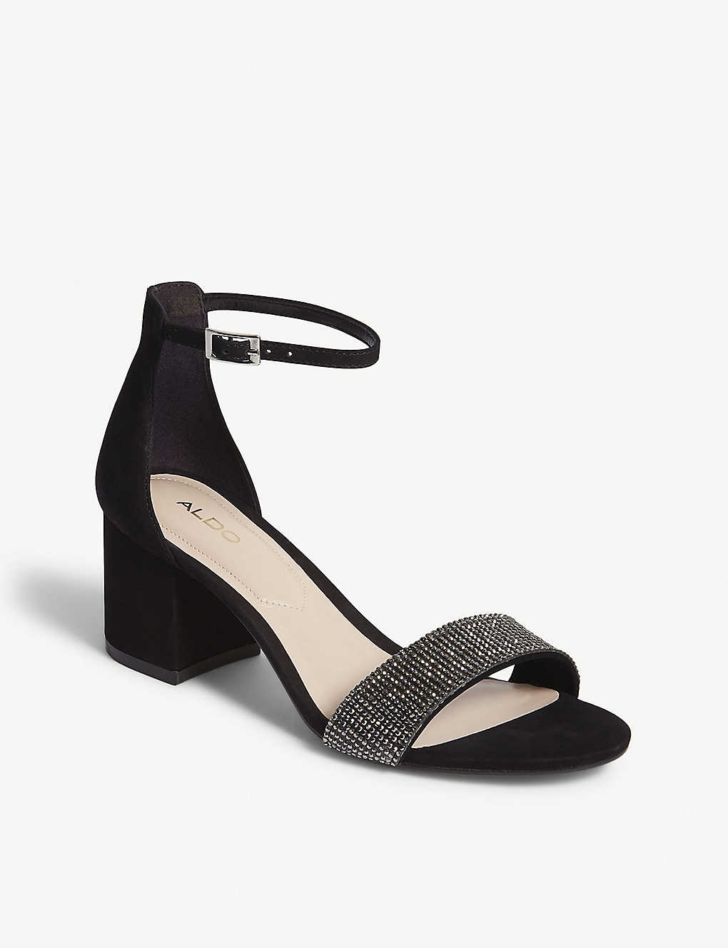 0fb3ba08b6d4 ... Gladoniel block heel sandals - Black nubuck ...