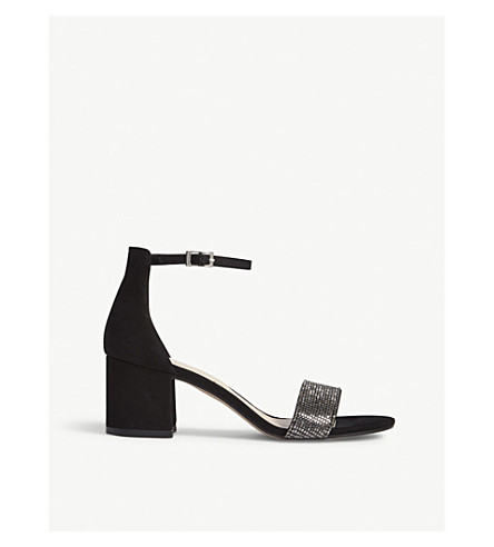 e35426a865c ALDO Gladoniel block heel sandals (Black+nubuck