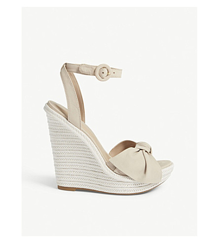 ALDO - Besch leather high wedge sandals