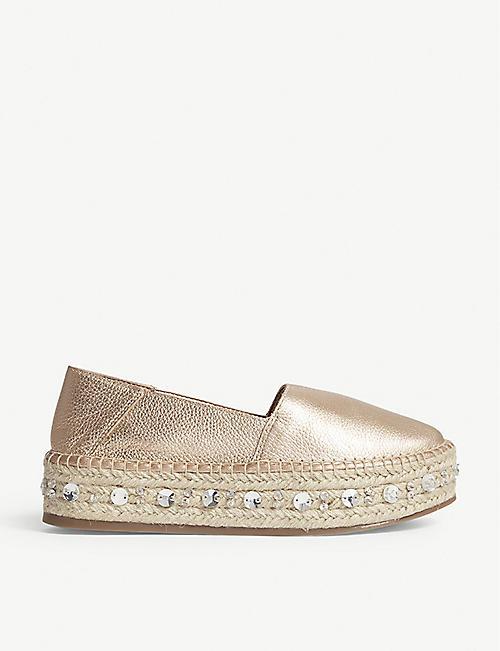 5dda82e262b7 ALDO Oceradda leather espadrille shoes