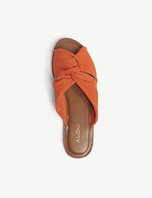 82e9204ab2 ALDO Sessame suede flat sandals. Quick Shop