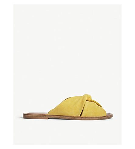230d88105450df ALDO Sessame suede flat sandals (Mustard