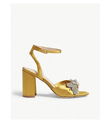 c5c9aaf3956d ALDO Sansperate embellished block heel sandals (Mustard