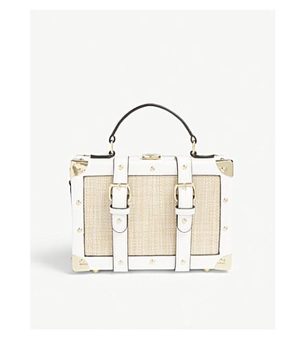 d7e46241f84 ALDO Muscle tassel charm top handle bag (White+miscellaneous