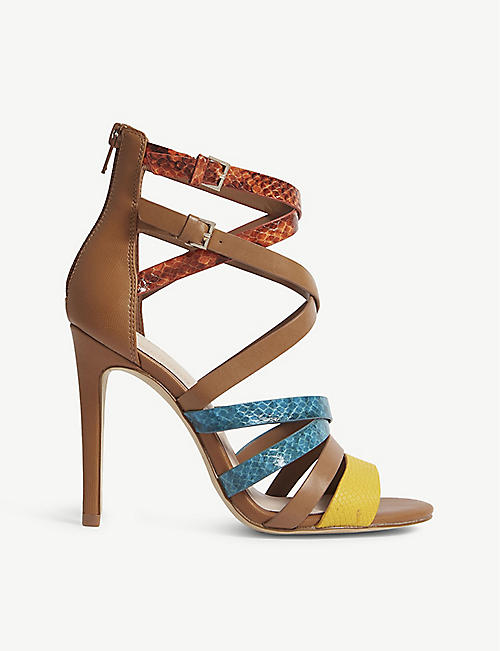 f0f218fb5a ALDO - Valecia snakeskin-embossed faux-leather sandals
