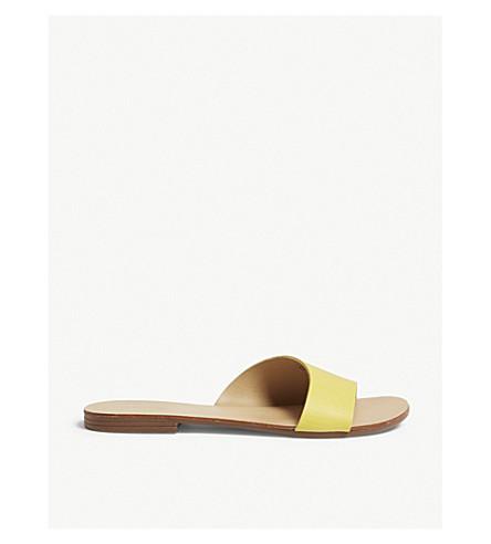 b014c586becf ALDO Kedirama leather flat sandals (Mustard