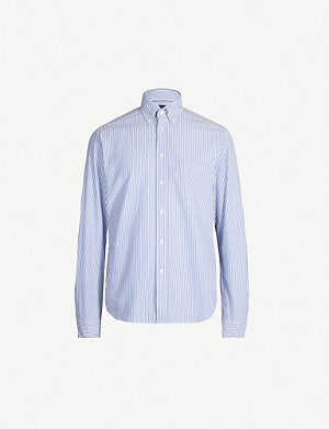 ETON Contemporary-fit seersucker cotton shirt