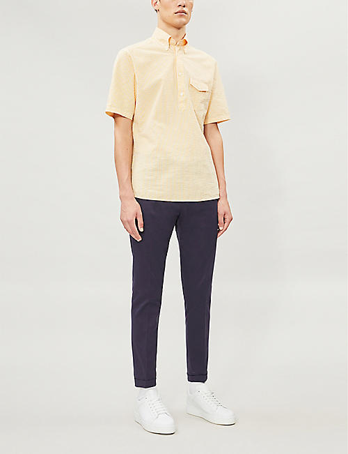 ETON Slim-fit cotton-seersucker shirt