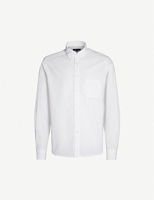 ETON Seersucker-print contemporary-fit cotton shirt