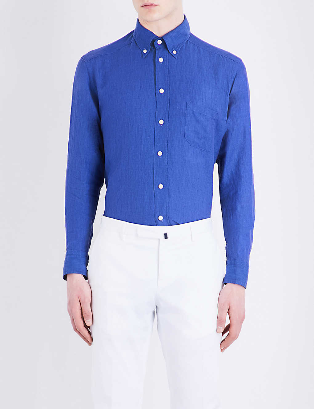 85010fd5 ETON - Slim-fit linen shirt | Selfridges.com
