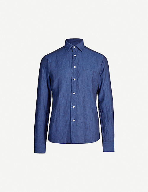 ETON: Slim-fit linen shirt