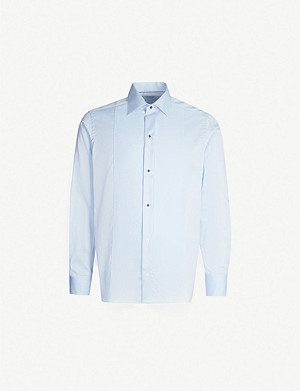 ETON Contrast panel contemporary-fit cotton-piqué shirt