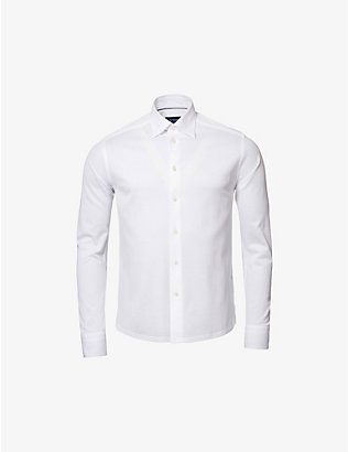 ETON: Regular-fit cotton-piqué shirt