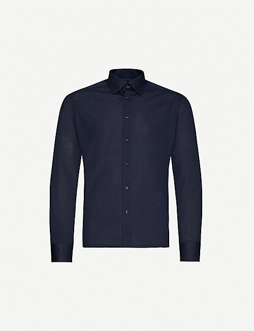 ETON: Slim-fit cotton-piqué polo top