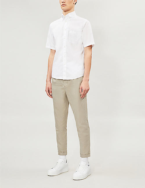 ETON Slim-fit short-sleeved cotton shirt