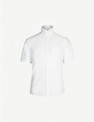 ETON: Slim-fit short-sleeved cotton shirt